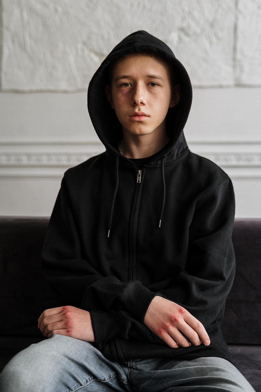 Traumatized boy
