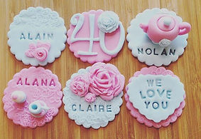 Personalised cupcakes toppers