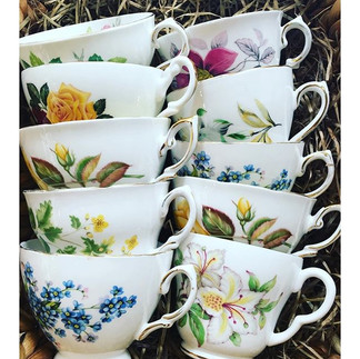 We only serve out tea in vintage fine bo