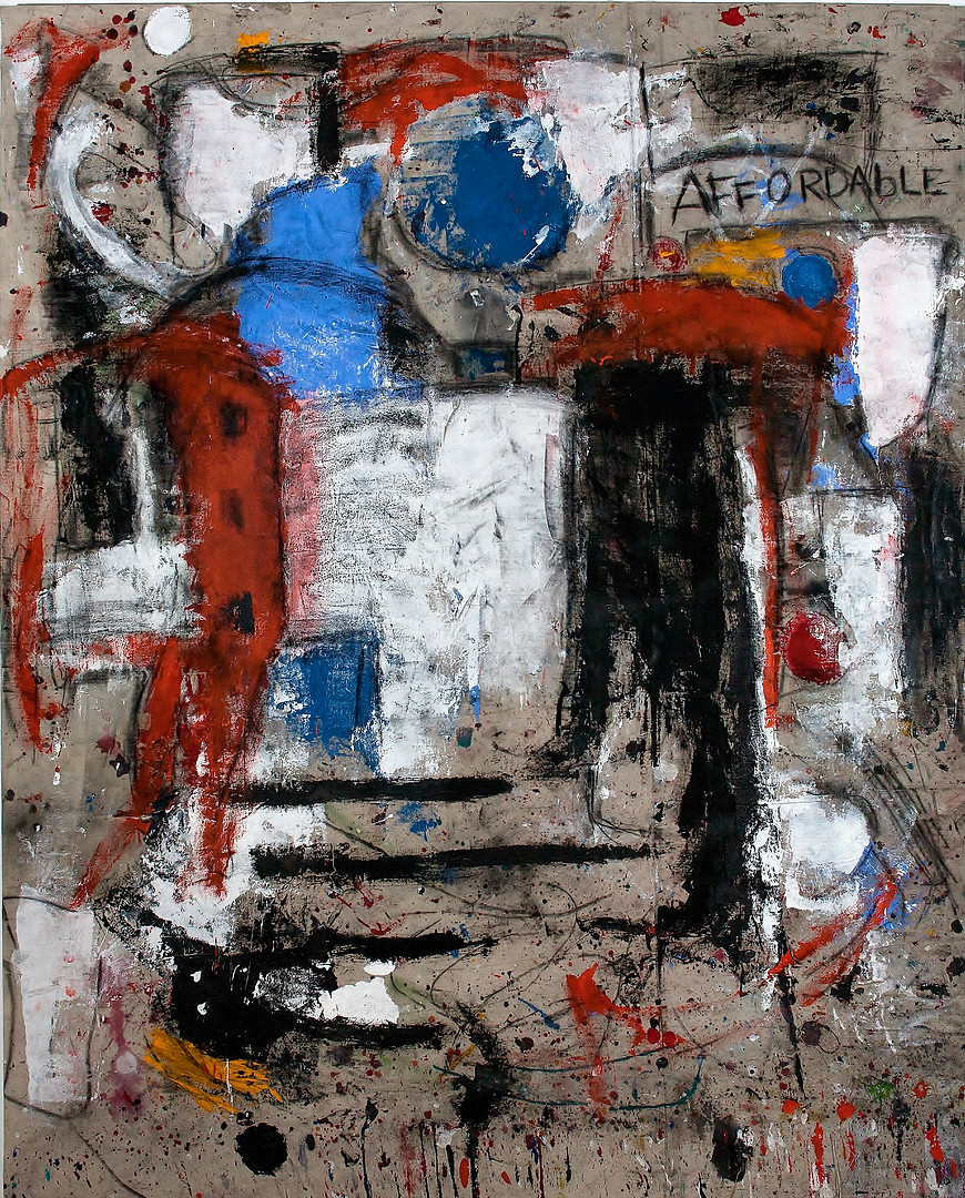 """Affordable 2016 Acrylic, Charcoal on Canvas 64.5""""x80"""""""