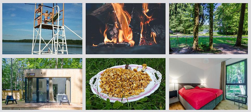 Kaletka - pomost, ognisko, huśtawka i domki