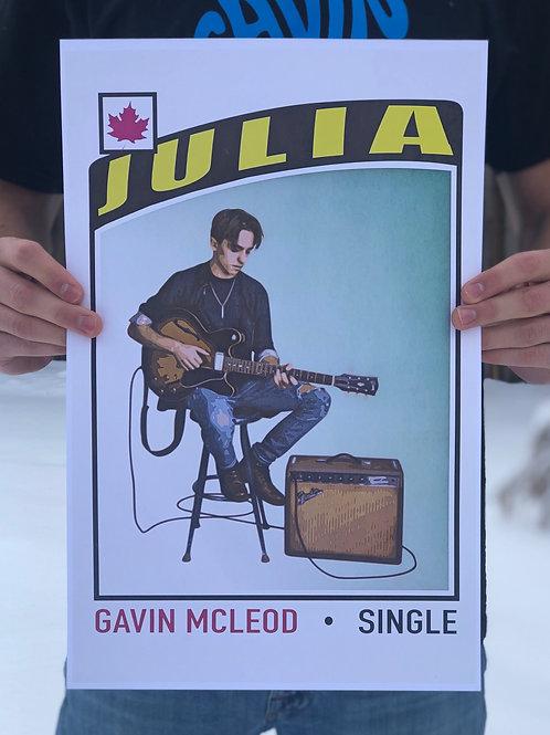 Numbered & Signed Julia Poster