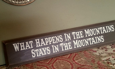 What Happens in the Mountains...
