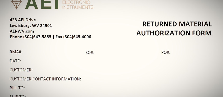 Returned Material Authorization