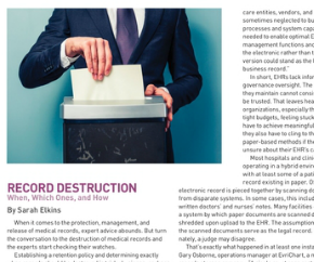 Record Destruction: When, Which Ones and How