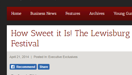 How Sweet it Is! The Lewisburg Chocolate Festival