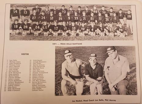 1971 bantams football team