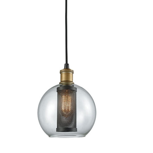 "Bremington 8"" Wide Glass/Mesh Pendant"