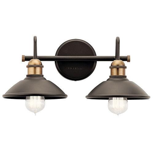 Clyde 2 Light Vanity Bronze/Brass
