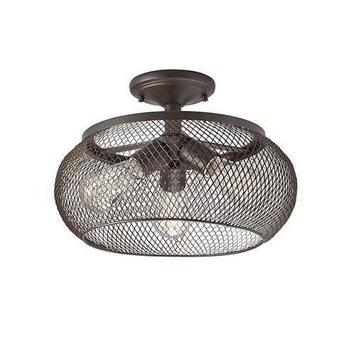 Mesh 3 light Semi Flush Bronze