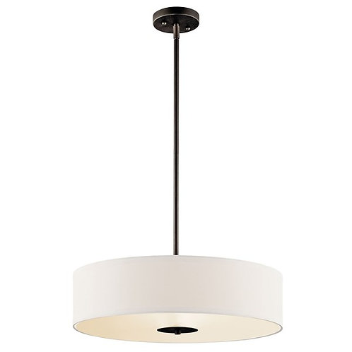 "Drum 20"" Round Pendant/Semi Flush"