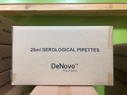 Denovo, Serological pipettes, 25ml, Sterilized [200/cs], DSP25S