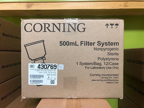 Corning, bottle-top vacuum filter system 500ml, 0.22um, CA [12/cs], 430769