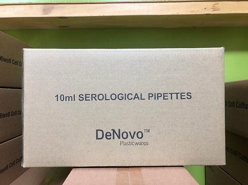 Denovo, Serological pipettes, 10ml, Sterilized [400/cs], DSP10S