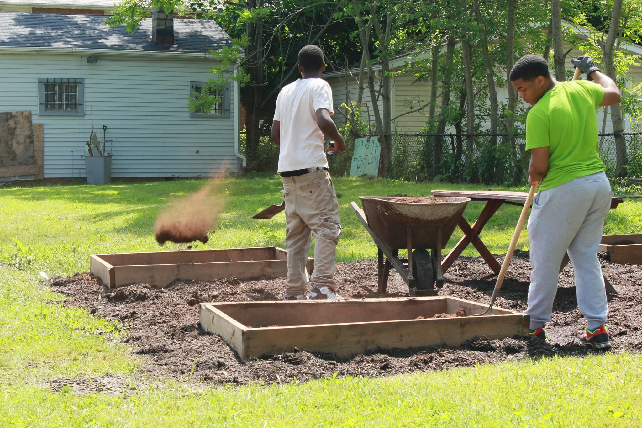 YOU Employees help create Garden