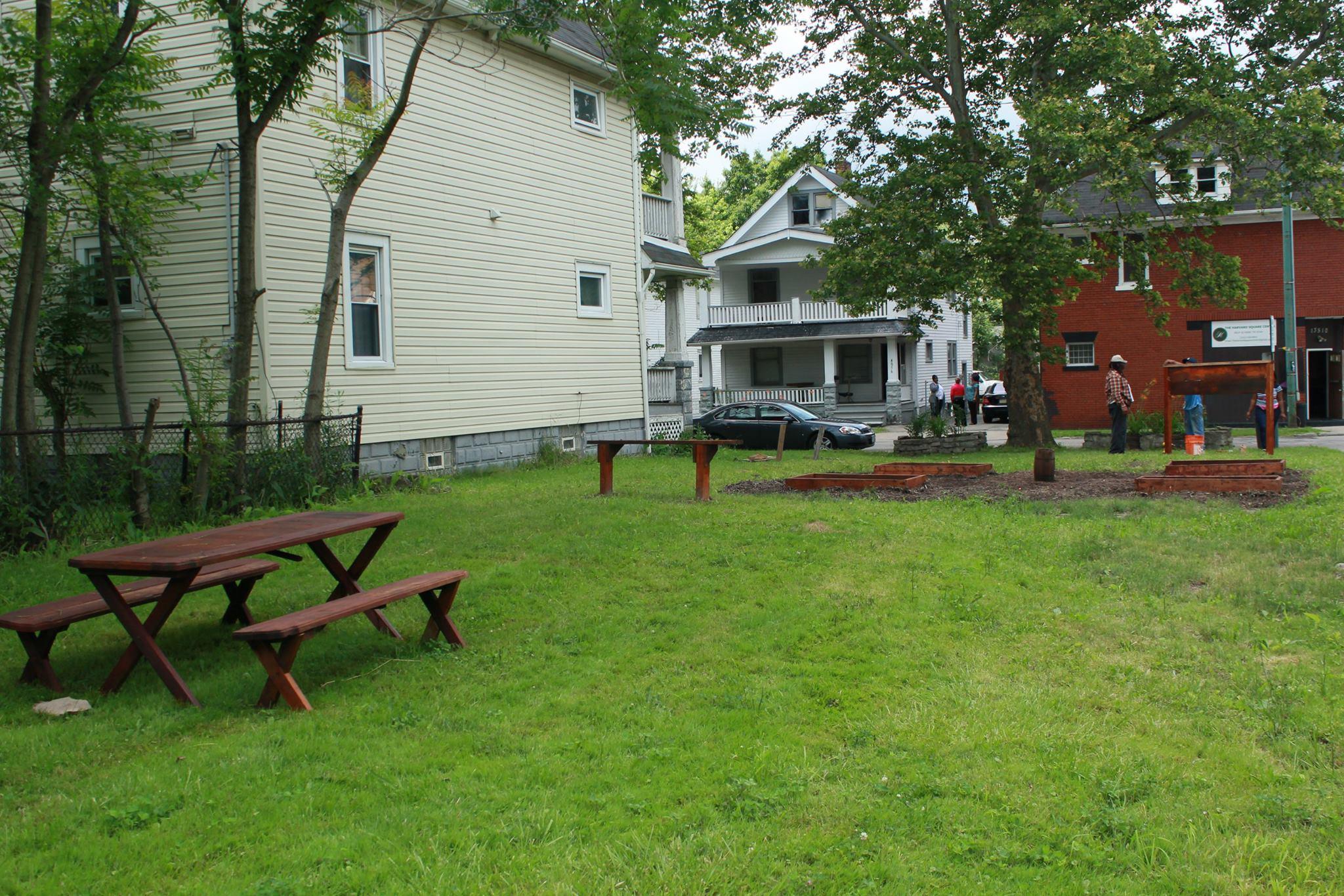 THSC help with Community Garden