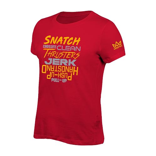 Camiseta Misspink Snatch Crossfit Clean