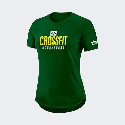 Camiseta Misspink Crossfit #TeamCeará Personalizada