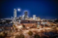 City, Oklahoma city, okc, night time, long exposure,
