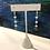 Thumbnail: Blue Lace Agate - lang ørepynt med lyseblå agat