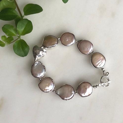 Natural Pearls - Perlearmbånd