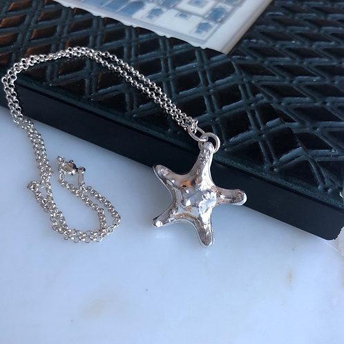 Starfish - Sjøstjerne smykke i sølv