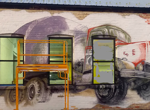 Unorthodox Approaches to Painting: Continued Work on the FWD Seagrave Mural