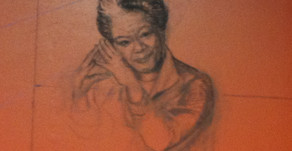 Sketch of Maya Angelou on the Wall