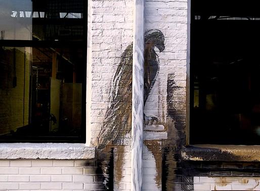 FWD Seagrave Mural: Façade's Detail Eagle Sculpture