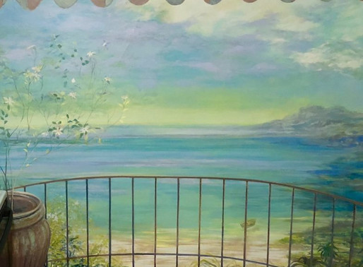 Trompe l'oeil at Cedarburg WI Private Residence