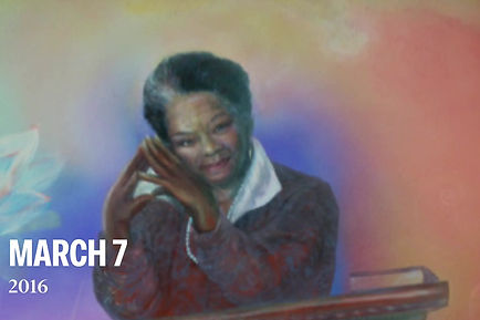 Portrait of Maya Angelou - Part of the Ripon College Mural
