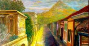 Painting of the Barrio Where I Grew Up