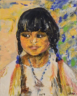 Indian Maiden, all w/palette knife