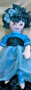 Blue & Velvet Prom Dress