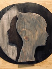 Sillouette in the Shadows ,Layered Wood