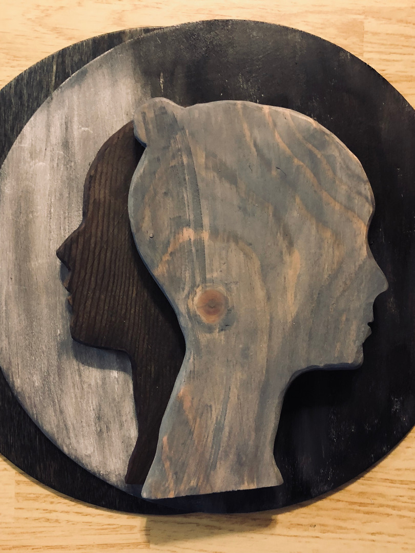 Sillouettes Layered Wood
