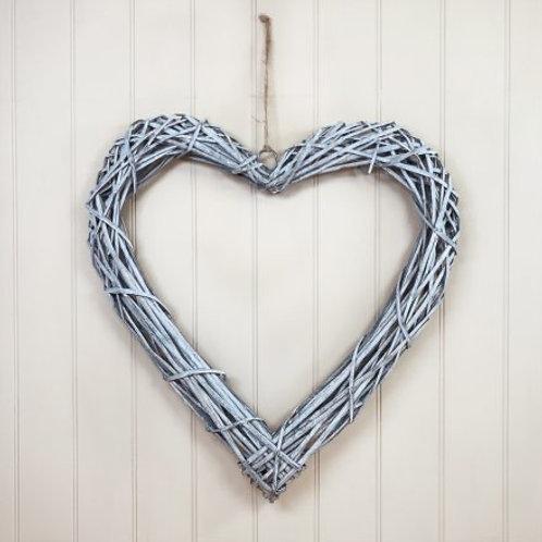 60cm wicker heart