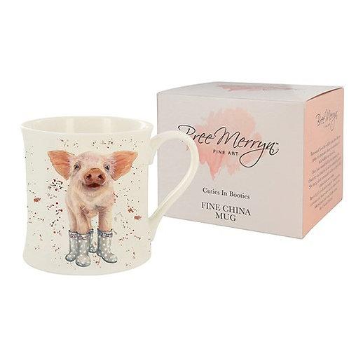 Piglet in wellies mug