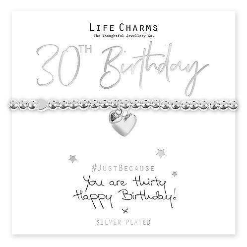 30th Birthday Bracelet