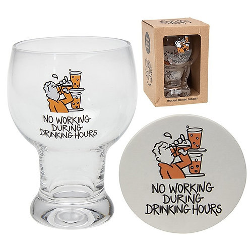 No working during drinking hours glass