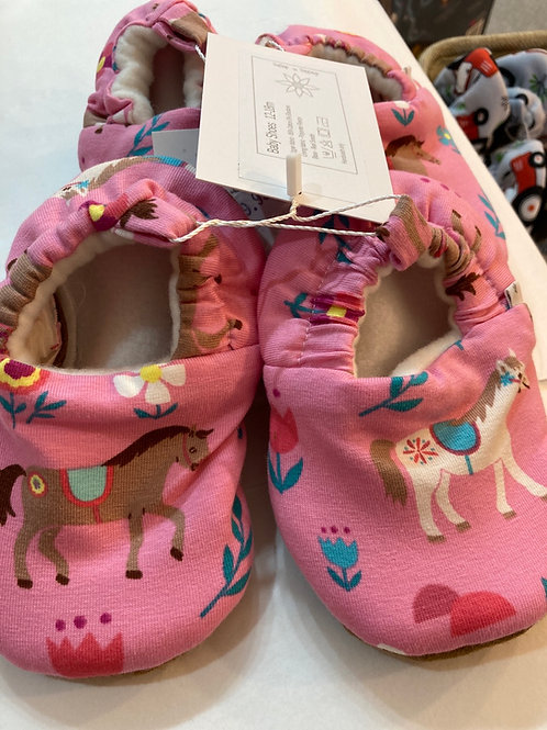 Pink pony slippers