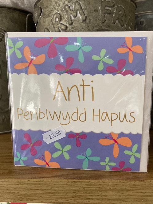 Penblwydd Hapus Anti