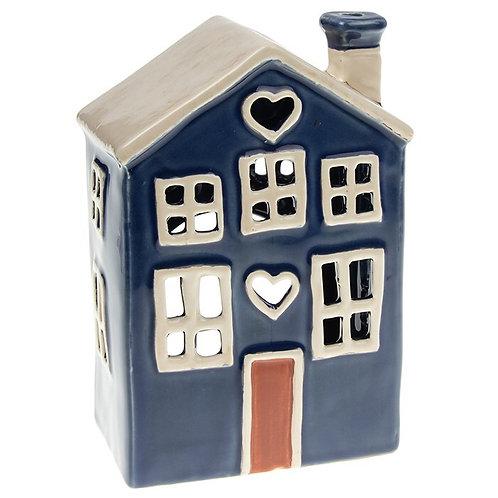 Heart House Tealight Blue