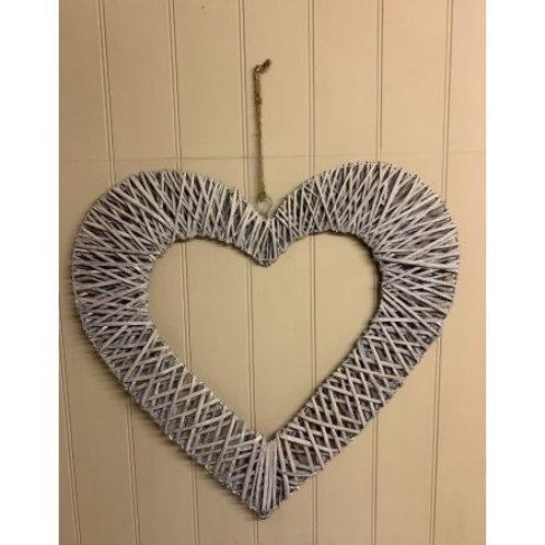 Wicker Heart 60cm