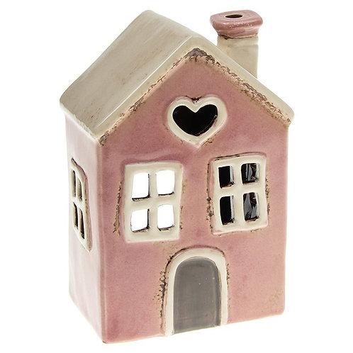 Heart House Tealight pink