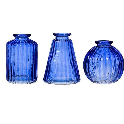 Cobalt bud vases