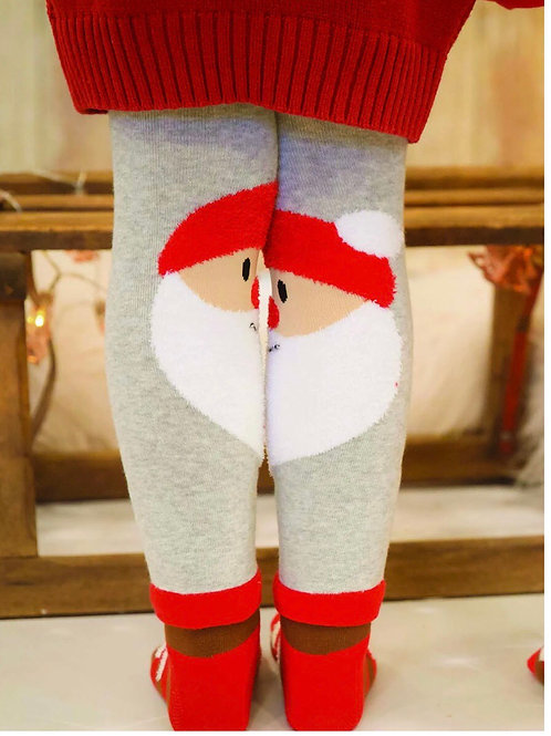 Blace and Rose Girls Santa leggings