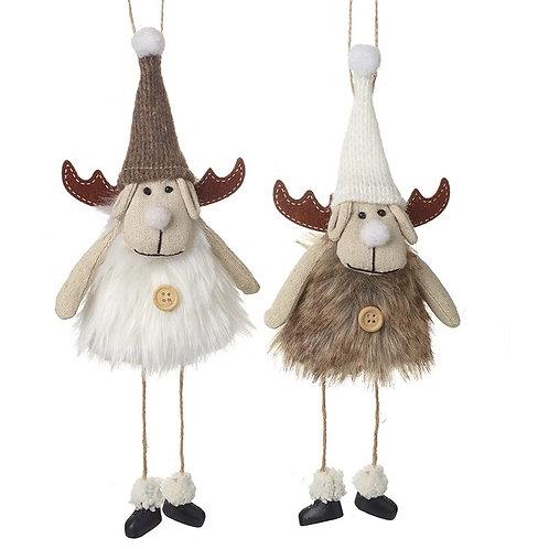 Hanging Fabric Reindeer