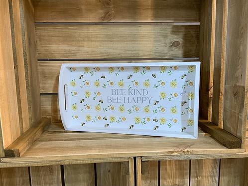 Bee kind tea tray