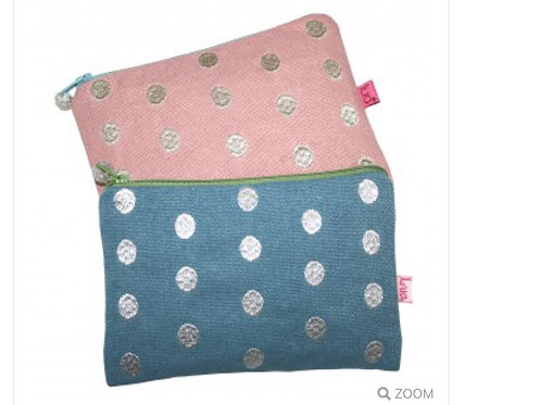 Embroidered Metallic Dots Purse